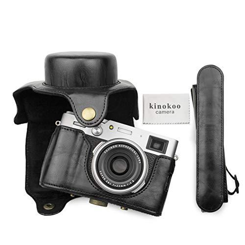 MUZIRI KINOKOO Schutzhülle für Fujifilm X100V Kameratasche mit Schultergurt, FUJI X100V Tasche, PU-Leder
