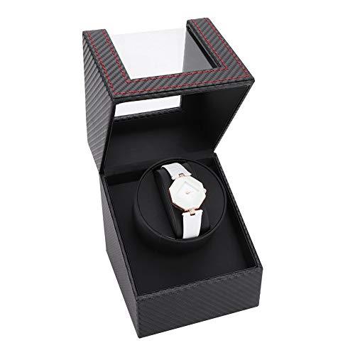 Cocoarm Wickelbox Uhrenwicklerbox Automatische Wickelbox für Uhren Mini Single 1 + 0 für mechanische Armbanduhr, EU-Stecker 100-240V