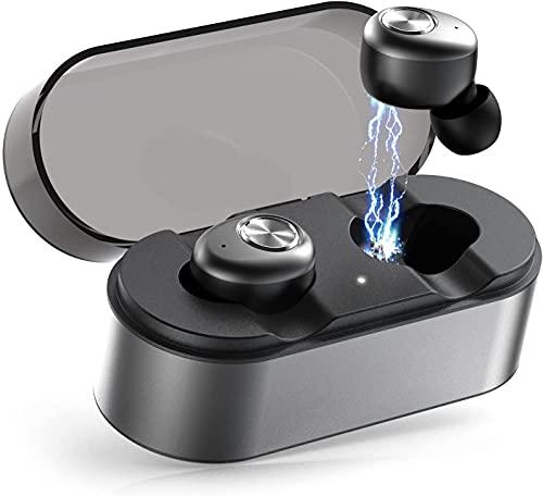 Bluetooth Kopfhörer, E18 in Ear Bluetooth 5.0 Headset Stereo-Minikopfhörer Sport Kabellose Bluetooth Kopfhörer mit Portable Mini Ladekästchen und Integriertem Mikrofon