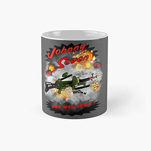 Motormaniac - Taza de café con diseño de Johnny Seven One Man Army de 1964