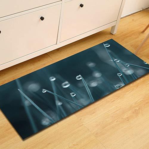 OPLJ Alfombra de Piso de Cocina de Hojas 3D Alfombra de área Antideslizante Gotas de Agua para alfombras de Dormitorio Alfombra de cabecera Alfombra de baño Alfombra de pie A25 40x60cm