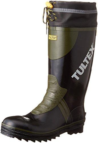 [AITOZ]アイトス 4703_010 27cm TULTEX タルテックス 長靴 鋼製先芯 吸汗性 ドライ裏地 反射テープ 糸入り 3E ブラック
