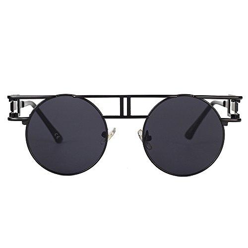 VeBrellen Occhiali da sole gotico Occhiali specchi retrovisori riflettenti Occhiali da sole rotondi Steampunk UV400