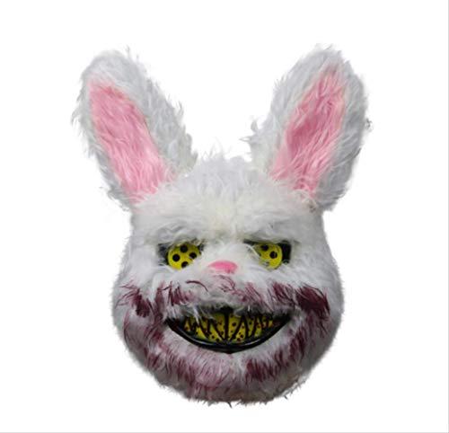tytlmask Halloween Masker Bloedige Killer Konijn Masker Teddy Beer Halloween Pluche Cosplay Horror Masker Voor Kinderen Volwassenen Wilde Wolf Enge