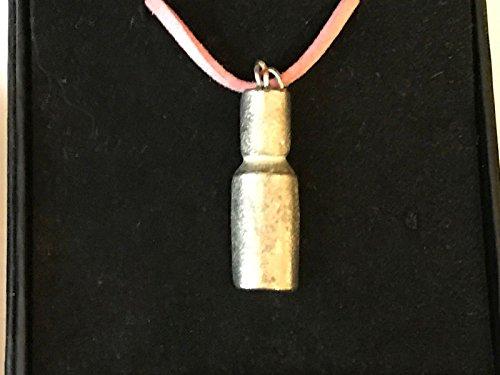 Nagellack Flasche tg119aus englischen Zinn auf einem 45,7cm Pink Cord Halskette geschrieben von uns Geschenke für alle 2016von Derbyshire UK