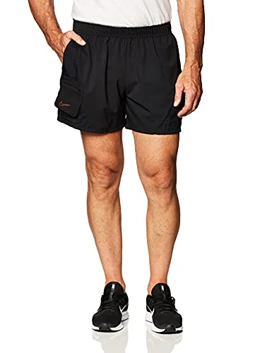 Nike M NK Short PX, Pantaloncini Sportivi Uomo, Black/Black/Black/(Team Orange), L