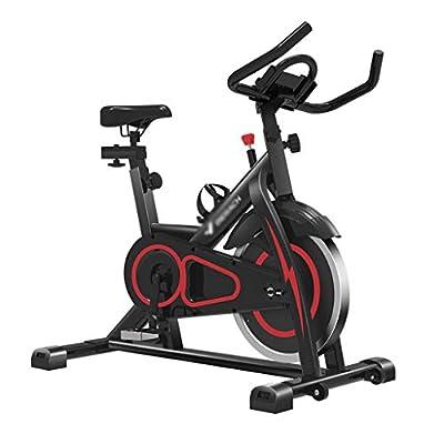 Exercise Bikes Cardio Workout Machine Training Adjustable Seat Indoor Upright Bike Stationary Belt Drive (Color : Black, Size : 11055100CM)