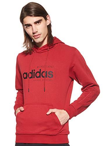 adidas Brilliant Basics M Hoodie Sudadera, Rojo (Red Ei4637), XL para Hombre