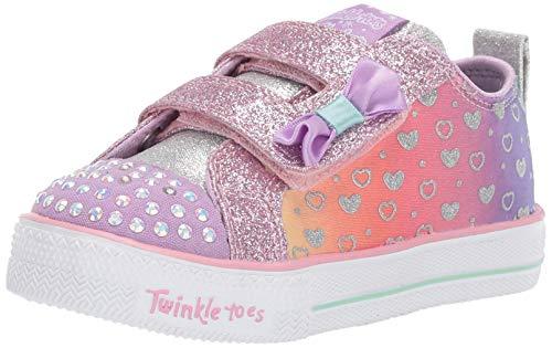 Skechers Mädchen Shuffle Lite Sneaker, Mehrfarbig (Lavender Multi Lvmt), 21 EU