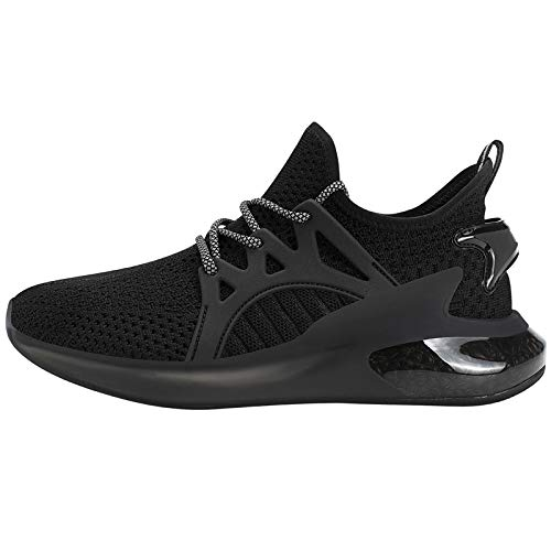 Feetmat Women's Tennis Shoes Breathable Non-Slip Sneakers Black Athletic Shoes US Size 6.5