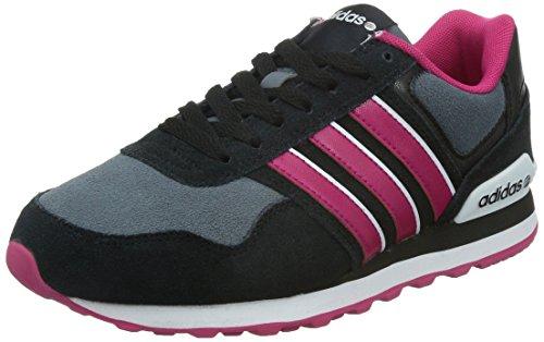 adidas NEO Damen 10K Sneaker, Schwarz (Black/Grey/Pink), 36 2/3 EU