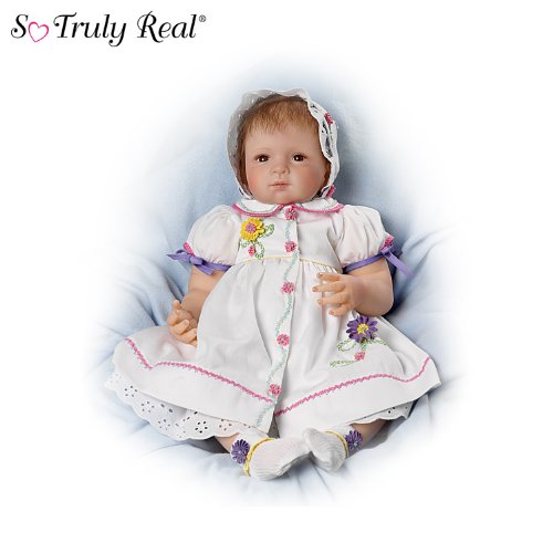 Waltraud Hanl The Dressed to Delight 21-Inch Baby Girl Doll by Ashton Drake