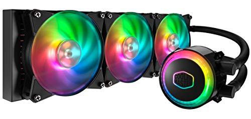 Cooler Master MasterLiquid ML360R RGB Refrigeración CPU a Liquido- Iluminación ARGB Sync, Diseño Bomba Premium y Ventiladores Triple MF120R ARGB
