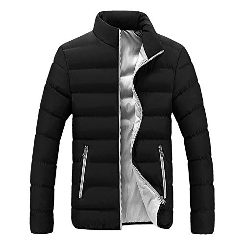 SSDXY Softshell Jacket for Mens Thick Bubble Coat Winter Warm Parka Hardshell Slim Fit Outwear Leisure Hip Hop Urban Coats