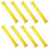 Creatyi 40 PCS Thicken Bam Bam Thunder Sticks Cheering Sticks Cheerleading Cheering Sticks for Sports Cheers Ball Dance Basketball Football Noisemakers (Yellow)