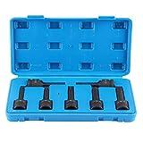 Extractor de roscas dañadas de 7 piezas, perno dañado de cabeza cuadrada de 1/2 pulg. Y 12,5 mm, perno roto, juego fácil de sacar para herramienta de reparación de automóviles
