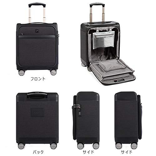 Uniwalkerスーツケース機内持込可超軽量キャリーケースTSAロック静音8輪トランク小型旅行出張ビジネスキャリーバッグ防水加工ブラック