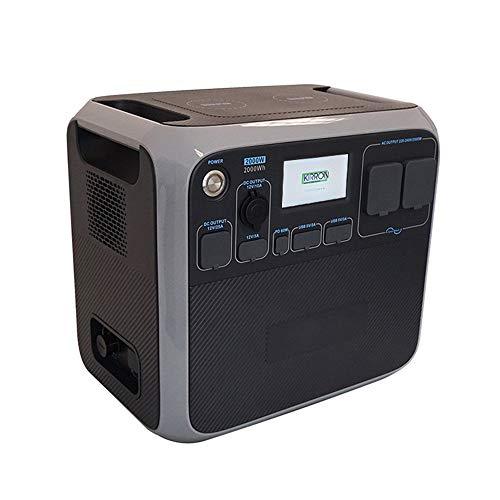 Kirron Powerstation AC200P LiFePo4 I Tragbarer Akku Generator 2000 W/2000 Wh I 230 V Powerbank Steckdose I Notstromaggregat mit AC DC-Port PD Type-C und USB Anschlüssen I Stromspeicher Camping & mehr