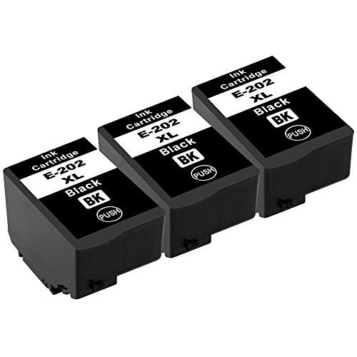 Tito-Express ProSerie 3X Patronen kompatibel mit Epson 202XL 202 XL mit 16ml Black XXL-Inhalt Expression Premium XP-6000 XP-6005 XP-6100 XP-6105