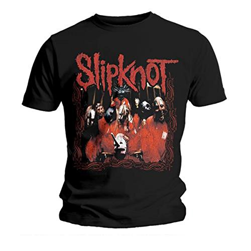 Slipknot Herren T-Shirt Band Frame Schwarz, Schwarz, L