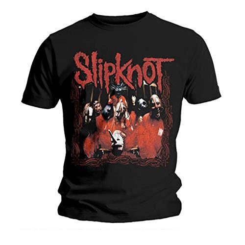 Slipknot Herren T-Shirt Band Frame Schwarz Gr. L, Schwarz