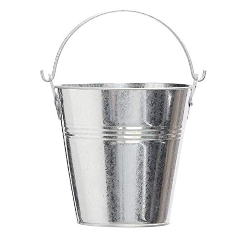 Westeco Wood Pellet Grill Drip Grease Bucket Replacment Parts for Grill/Smoker GMG, Traeger HDW152 & Pit Boss & Camp Chef BBQ Grills Galvanized Metal Pail with Handle