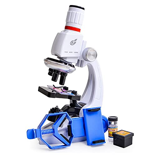 BINGFANG-W 100X 400X 1200X LED Lab Microscope Kit Home School Science Educational Toy Gift Refined for Kids Child Biological Microscope
