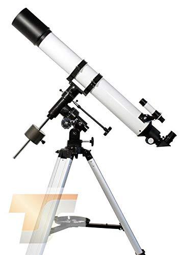 TS-Optics Refraktor Teleskop R 80/900 mit EQ3-1 mit besserem Stativ und viel Zubehör, Starscope809