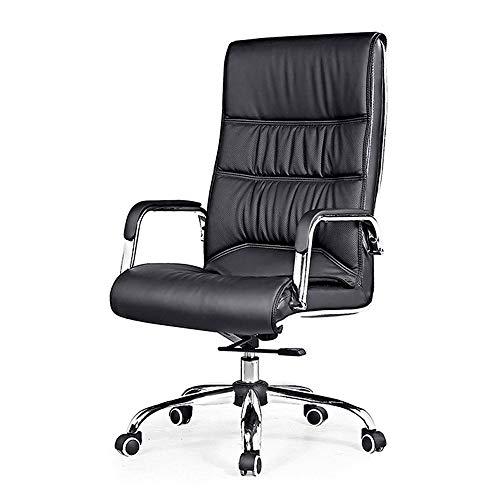 Chairs Sillas de Oficina Ejecutiva Silla de Oficina, Duradero y Estable, Giro de 360 Grados, Negro LQHZWYC