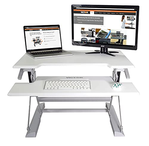 Victor DCX710W Height Adjustable Standing Desk | White | 31