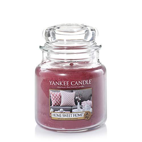 Yankee Candle Duftkerze im Glas (mittelgroß) | Home Sweet Home | Brenndauer bis zu 75 Stunden