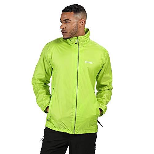 Regatta Veste Technique Lyle IV imperméable, Respirante et compactable avec Capuche et Motifs réfléchissants Jackets Waterproof Shell Homme, Electric Lime, FR : 2XL (Taille Fabricant : XXL)