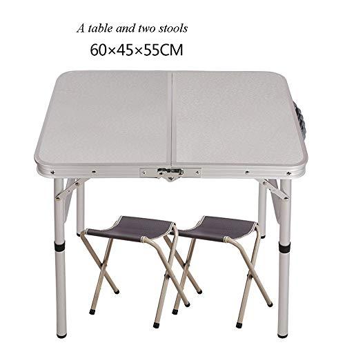 LLA barbecue tafel bijzettafel klaptafel buiten camping plaats 60 * 45 * 58,5 cm beweegbare aluminiumlegering tentoonstelling tafel picknick studie tafel eenvoudige stal C