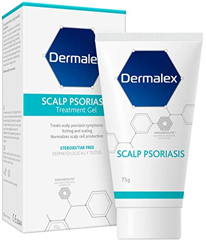 Dermalex Psoriasis Scalp Treatment Gel – Developed by Dermatologists to Treat Scalp Psoriasis Symptoms – 75 g