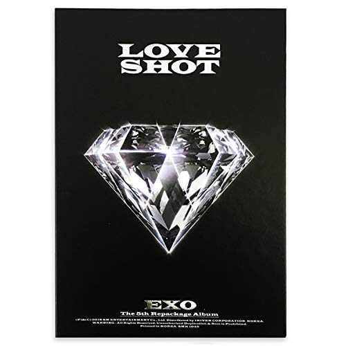 EXO 5th Repackage Album - LOVE SHOT [ LOVE ver. ] CD + Booklet + Photocard + FREE GIFT / K-pop Sealed