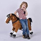 UFREE Caballo pony de juguete, para andar o mecerse, con ruedas, adecuado para niños de 3 a 6 años.