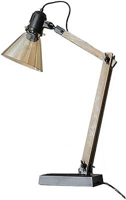 ZXT Retro Brazo Largo lámpara de Mesa Plegable E27 Ajustable de ...