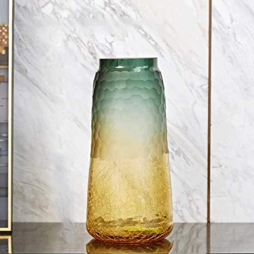 Vaas moderne minimalistische glazen vaas Transparante Nordic Woonkamer Eetkamer Bloemstuk decoratie licht huis Gedroogde Bloemornament Model Kamer inrichten European Style Light Ice zhihao