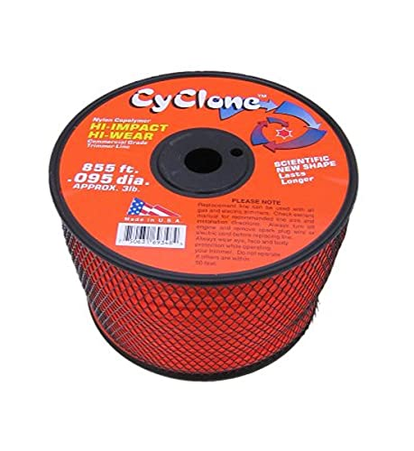 Cyclone Desert Extrusion CY095S3 .095' x 855' Commercial Trimmer Line Orange