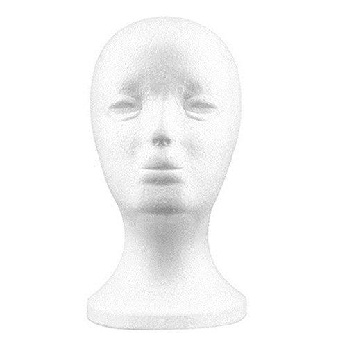 Teenxful Bluelans pratique en mousse femelle Tête de mannequin Perruques Lunettes capuchon écran support Modèle