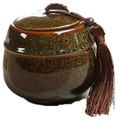 Vinbcorw Tee-Aufbewahrungsdosen/Teedosen Keramik/Ofenwechsel kleine luftdichte Dosen/Tee-Verpackungsboxen/Haushalts-Teesets9*9cm,A