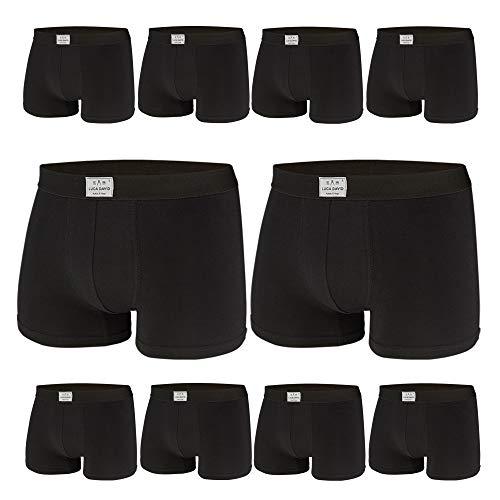 Luca David, Herren Boxershorts, 10er Pack (XL / 7, schwarz)