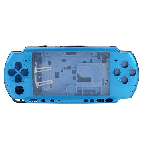 ASHATA Ersatz Gehäuse, Anti-Rutsch Full Gehäuse Shell Cover mit Button Set,Ersatzteile Reparatur Teil Gehäuse Hülle Taste Housing Shell Case Cover für PSP 3000(Blau)