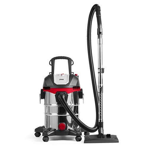 LIVOO DOH1224 - Aspirador de Agua y Polvo, cubeta de 23 L, 18 KPA, 1400 W | aspiración y soplería | Potente y versátil Aspirador de Obras sin Bolsa