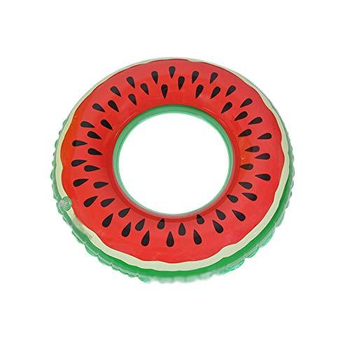 DSAKOX Gute Qualität Watermelon Schwimmen Ring, Erwachsene Multi-Größe verdickte Inflatable Lifebuoy (Size : 120cm)