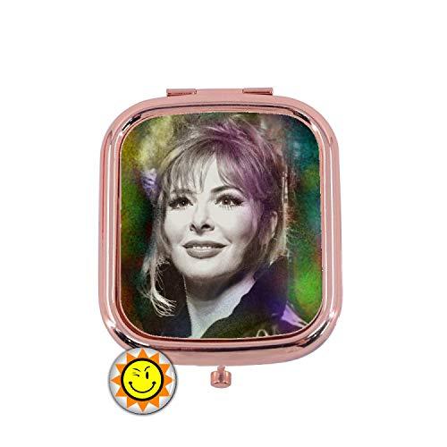Miroir de Poche Femme Cadeau Fantaisie Original Musique Chanteur Mylene Farmer