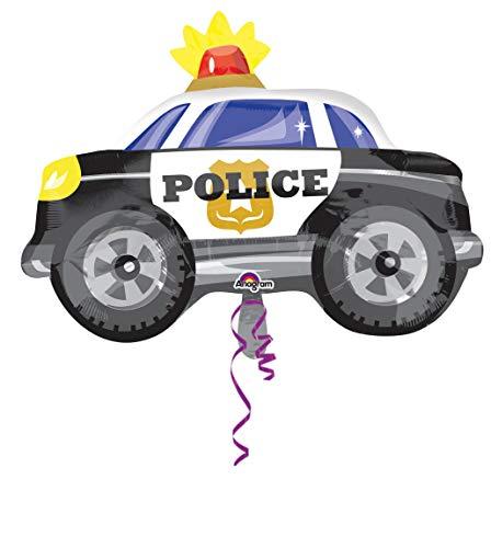Amscan 10022744 - Globo de aluminio para coche de policía, 1 unidad