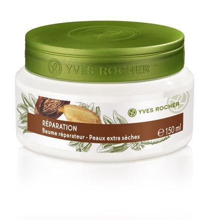 Yves Rocher PFLANZENPFLEGE KÖRPER Repair-Körperbalsam, reichhaltigerKörperbalsam mit Karitébutter, für trockene Haut, 1 x Dose 150 ml