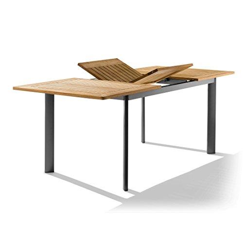 SIEGER Auszieh-Tisch eisengrau - (687/G KT FS)