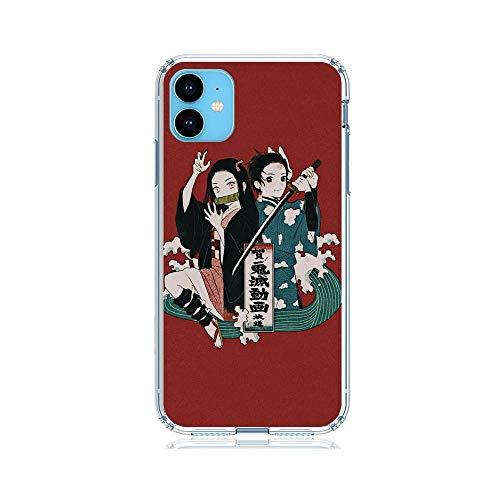 Gogoyang Ultra-Thin Clear Clair Coque Sanft Soft TPU Case Cover for Apple iPhone 11-Demon-Slayer Kimetsu-No Yaiba 5